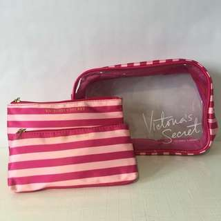 VICTORIA'S SECRET 3 IN 1 VANITY POUCHES