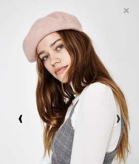 Subtitled pink beret
