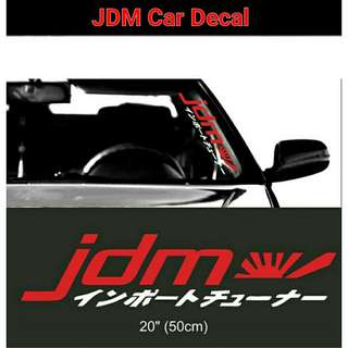 JDM Car Van Decal