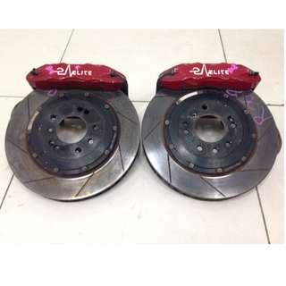 Mazda RX8 Front Brake Caliper 4 Pot & Rotor Disc (AS2600)