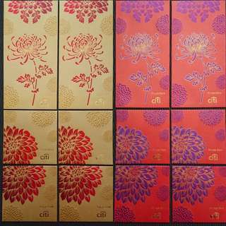 BN 12pcs Citi Private Bank Red & Gold Red Packets