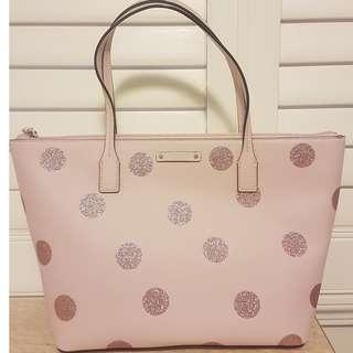 Kate Spade Pink Polka Dot Bag