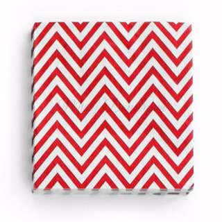 Chevron Napkins Value Pack (Set of 20) – Red