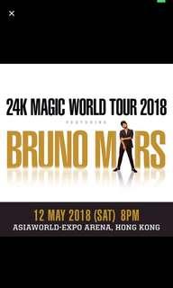 Bruno Mars 13/5 block b x 2