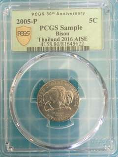 PCGS Sample USA Bison 5 Cent Year 2005 UNC
