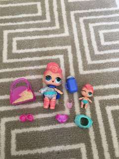 LOL Surprise Dolls Stardust Queen & Lil SQ