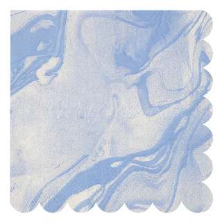 Marble Napkins (Set Of 20) – Blue