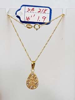 21K Genuine Gold Necklace