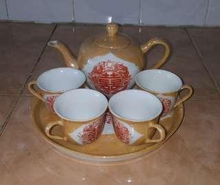vintage oriental tea set