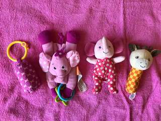 Take all this cute rattles Baby toys