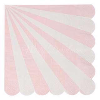 Stripe Napkins (Set of 20) – Pink