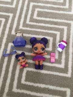 LOL Surprise Doll Purple Queen & Lil PQ