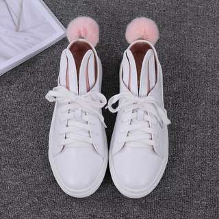 Rabbit ears shoes with tail