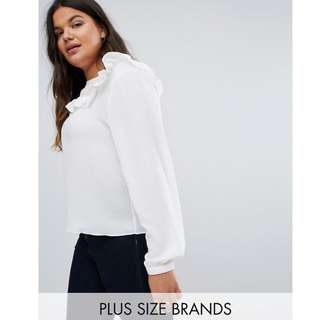 ASOS Brave Soul Plus Frill Front Blouse UK18 Plus size, Plussize