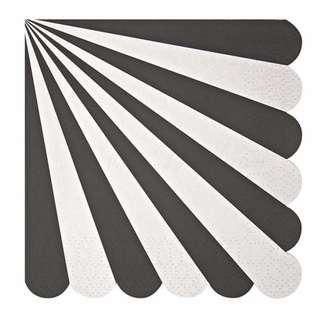 Stripe Napkins (Set of 20) – Black