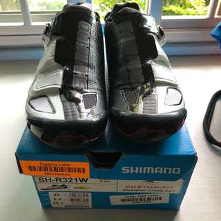 Shimano White R321 SPD-SL Road Shoe EU42