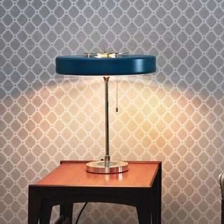 CLEARANCE! - Blue Retro Table Lamp
