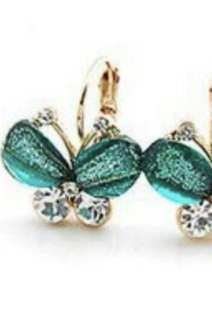 Yura Butterfly loop earrings