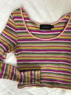 Mink pink rainbow jumper