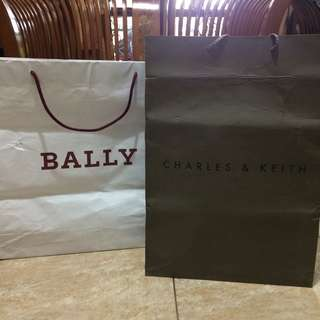 Bally + Charles and Keith Paperbag
