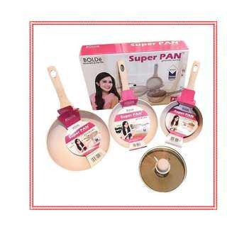 Super Pan Beigi 3 Pcs Bolde Original Bahan Granite Anti Lengket