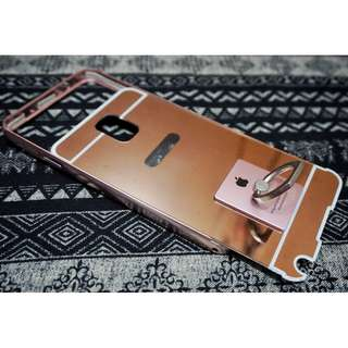 Casing Samsung Note3 N900 Pink Mirror with Iring