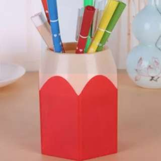 Mini Pencil Pen Pot Holder Storage Makeup Vase Stationery Cup Brush Box Gift