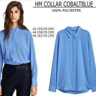 HnM Blouse Collar Blue dark