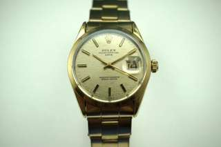 Rolex 1550 Date Gold Cap, c.1971, papers, books, green tag, vintage