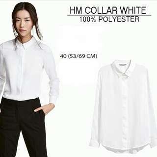 HnM Blouse Collar white