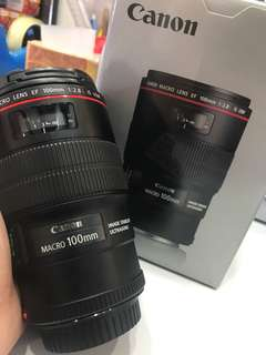 Canon 100mm F2.8 EF IS L Macro Lens