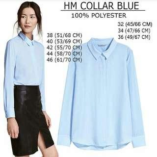 HnM Blouse Collar Baby Blue
