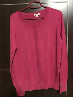 Bossini Ladies Hot Pink Cardigan