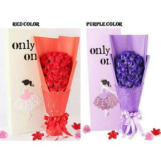 33pcs Of Rose Soap Flower Bouquet Box (Mother's Day)