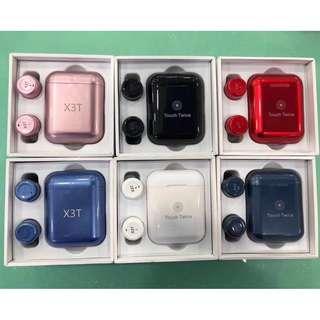 X3T 全新正貨 輕觸式重低音藍芽耳機 真無線 立體聲 雙耳 藍牙耳機 4.2 藍芽 分離式 連充電盒