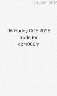 95 harley trade for cbr1000rr