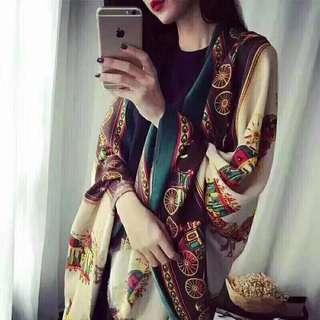 BUY3FREE1 🔥PROMO🔥Authentic Premium Silk Scarf Travel Holiday Shawl Business Trip