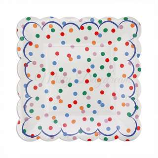 Toot Sweet Spotty Large Plates 9″ (Set of 8)