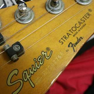 Squiers strat by fender 1st model vtg