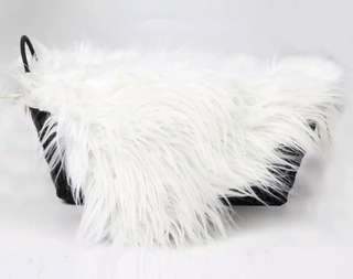 White Wool Blanket for Photography prop
