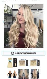 Zala Hair Extensions -Honey Beach Highlights 20 Inch Quad Weft Lace