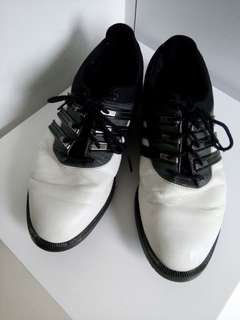 adidas leather shoes...size 10half