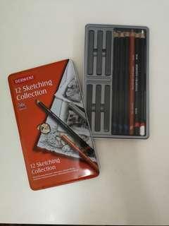 Derwent Sketching Collection Metal Tin 12 Count