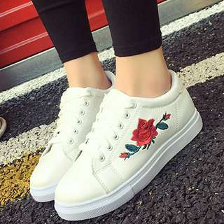 Instock Rose Embroidery Sneakers
