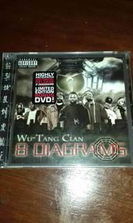 WU Tang Clan 8 Diagrams CD DVD original USA first pressing sealed, Raekwon, Ghostface, GZA, RZA, Method man new Rap