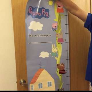 Peppa Pig height chart