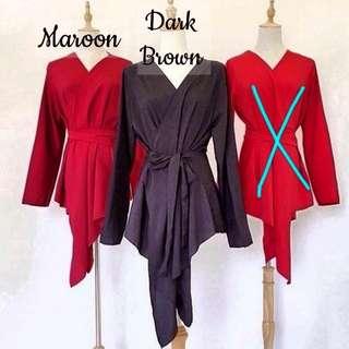 Kimono Wrap with Rhinestones on arm sleeves + Matching belt #rayaletgo