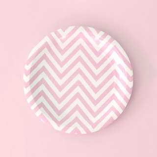 Chevron Light Pink Small Party Plates