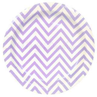 Chevron Lavender Party Plates