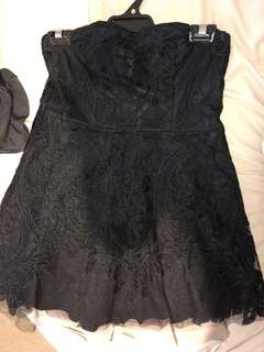 Black Lace cocktail formal dress